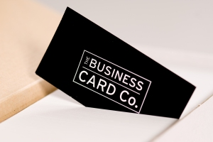 Black logo card